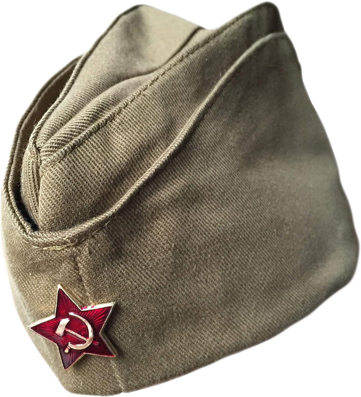 Ganwear® Gorra rusa genuina soviética Sombrero de piloto militar uniforme de la URSS con insignia de estrella roja: Amazon.es: Ropa y accesorios