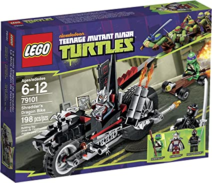 Amazon.com: LEGO Ninja Turtles Shredder Dragon Bike 79101 ...