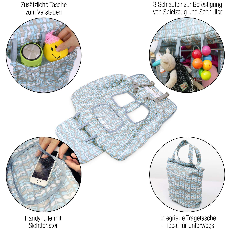Sitzbezug für Einkaufswagenschutz mit integrierter Transporttasche