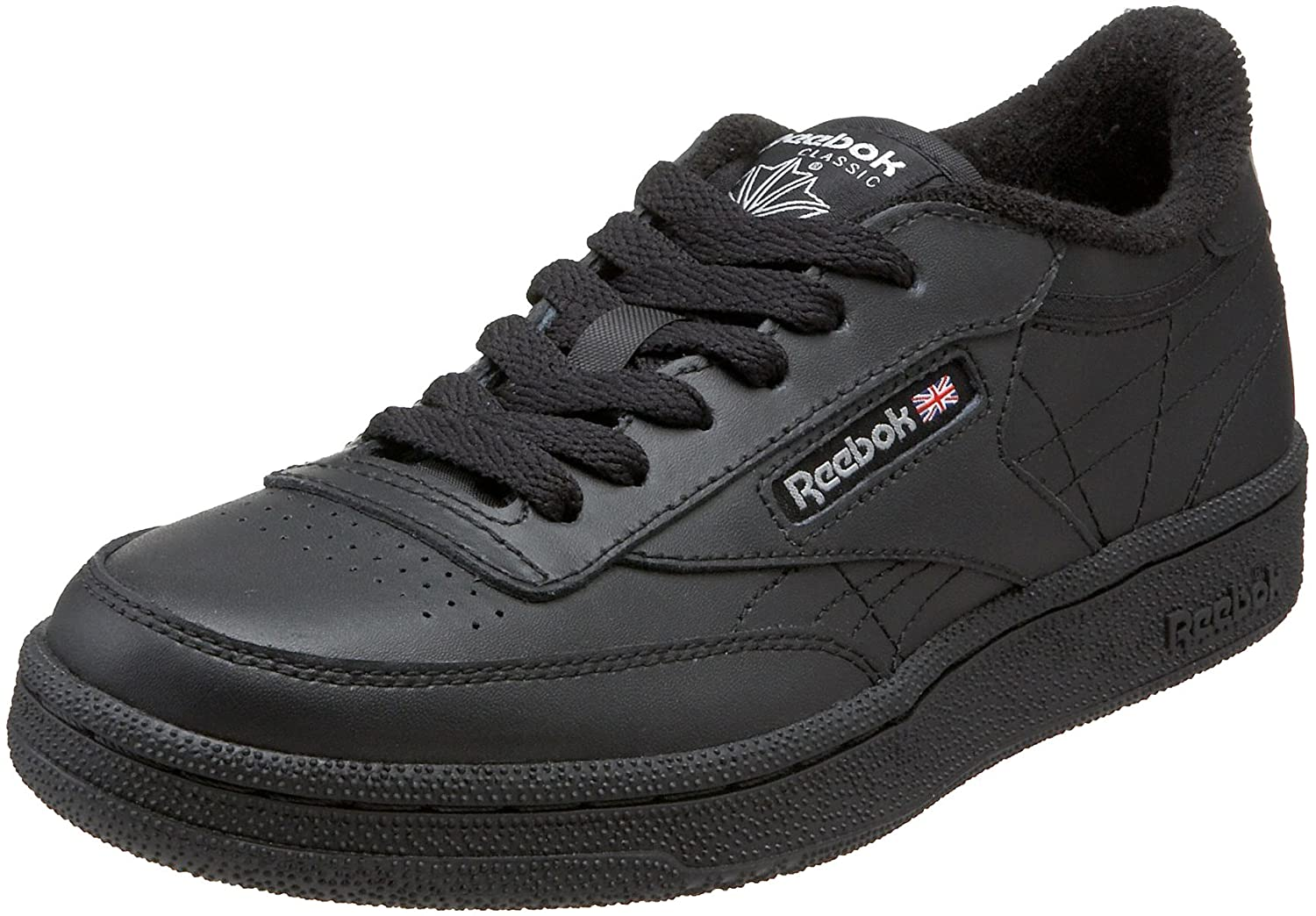 Reebok Club C Black Black Youths Trainers Size 6 UK  Amazon.co.uk  Shoes    Bags 683684094