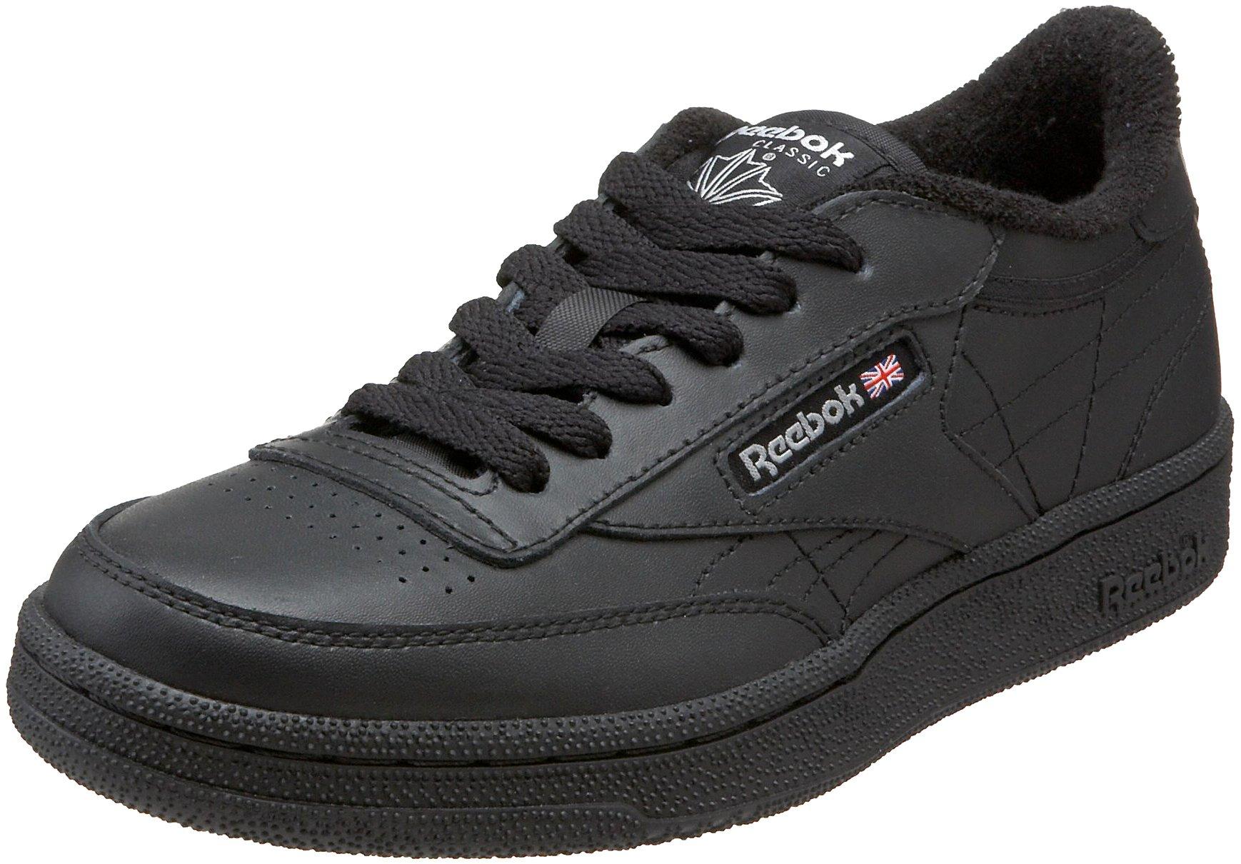 Reebok Kids' Club Fashion Sneaker,Black/Charcoal,5.5 M US Big Kid
