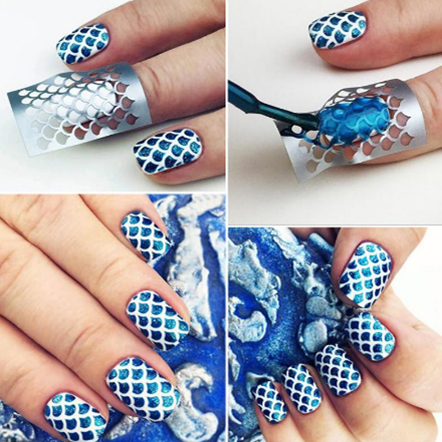 Colossal Ship 72 Different Designs Nail Vinyls Stencils Nails