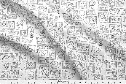 Para colorear en tela para colorear en sellos de colección por ...