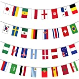 Indoor Outdoor All 32 Competing Nations Russia 2018 World Cup Flags Premium Quality Card Giant Bunting Huge Extra Large 12 Metre Multi Nation Party Decoration Banner