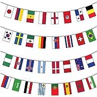 My Planet 32x Monde des drapeaux de qualité premium carte géante fanions énorme Extra Large 12metre Multi Nation Décoration de fête Bannière