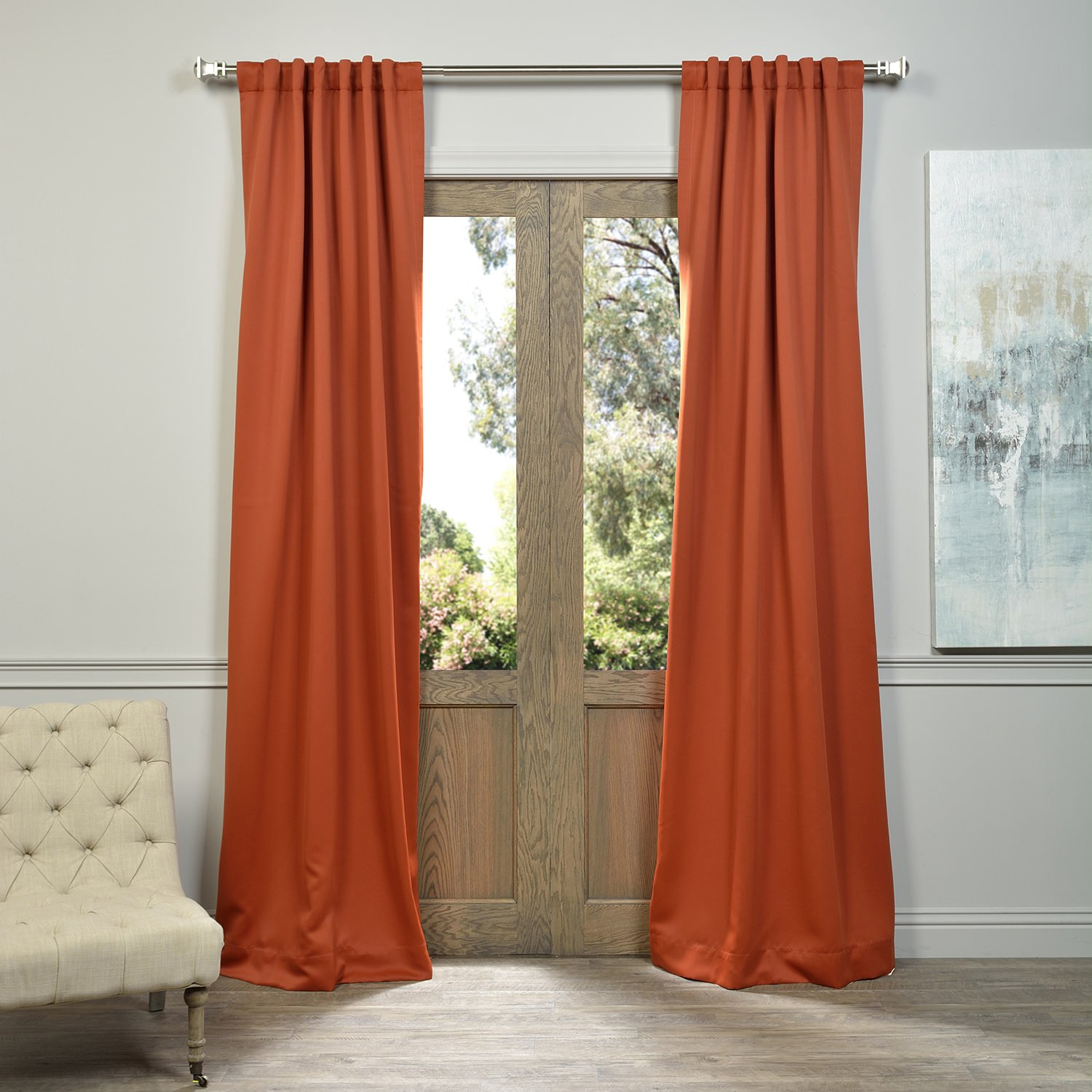 Half Price Drapes Blackout Curtain, Blaze