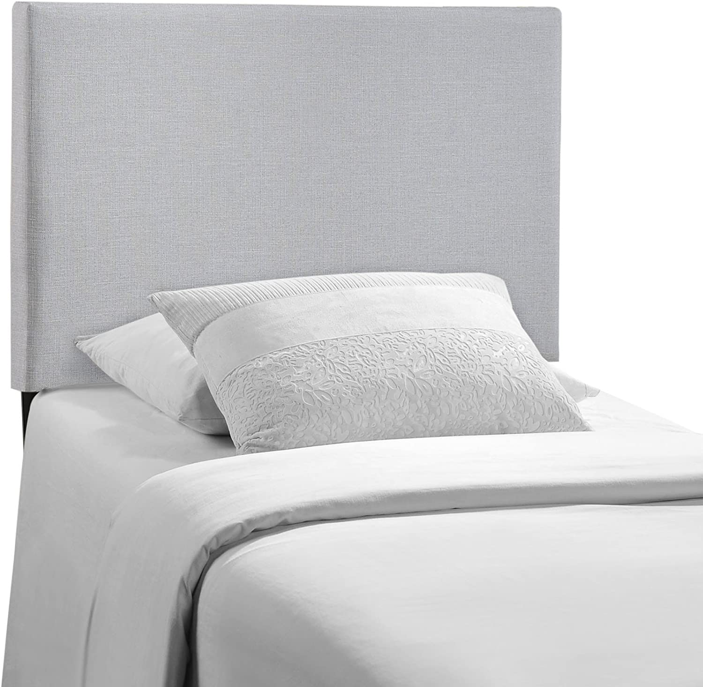 Modway Region Linen Fabric Upholstered Twin Headboard in Gray