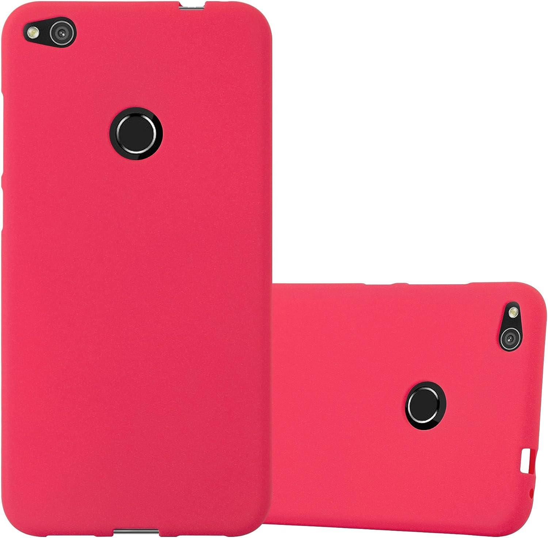 Cadorabo Custodia per Huawei P8 LITE 2017 in FROST ROSSO - Morbida Cover Protettiva Sottile di Silicone TPU con Bordo Protezione - Ultra Slim Case ...
