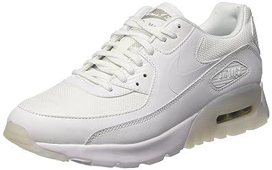 quality design 4567b c646e Nike W Air Max 90 Ultra Essential, Baskets Femme, Blanc Cassé White-Metallic