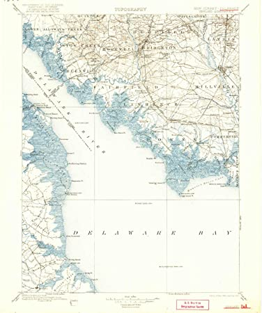 Amazon Com Yellowmaps Vineland Nj Topo Map 1 125000 Scale 30 X 30