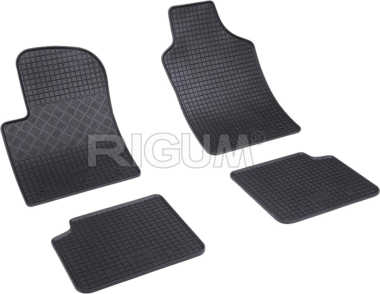 geruchlos Auto-Fu/ßmatten von Fabbri 3 RIGUM900675 aus echtem Gummi Schwarz