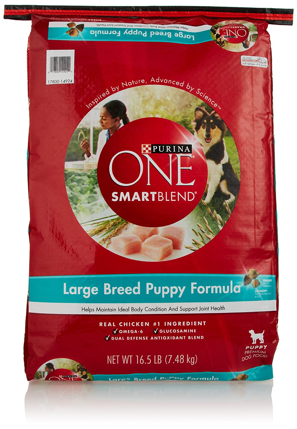 Purina ONE Dog Smartblend, Large Breed Puppy Formula, 16.5 lb