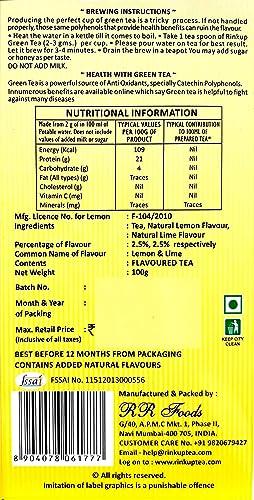 Lemon - Whole Leaf Green Tea 100grams: Amazon in: Grocery