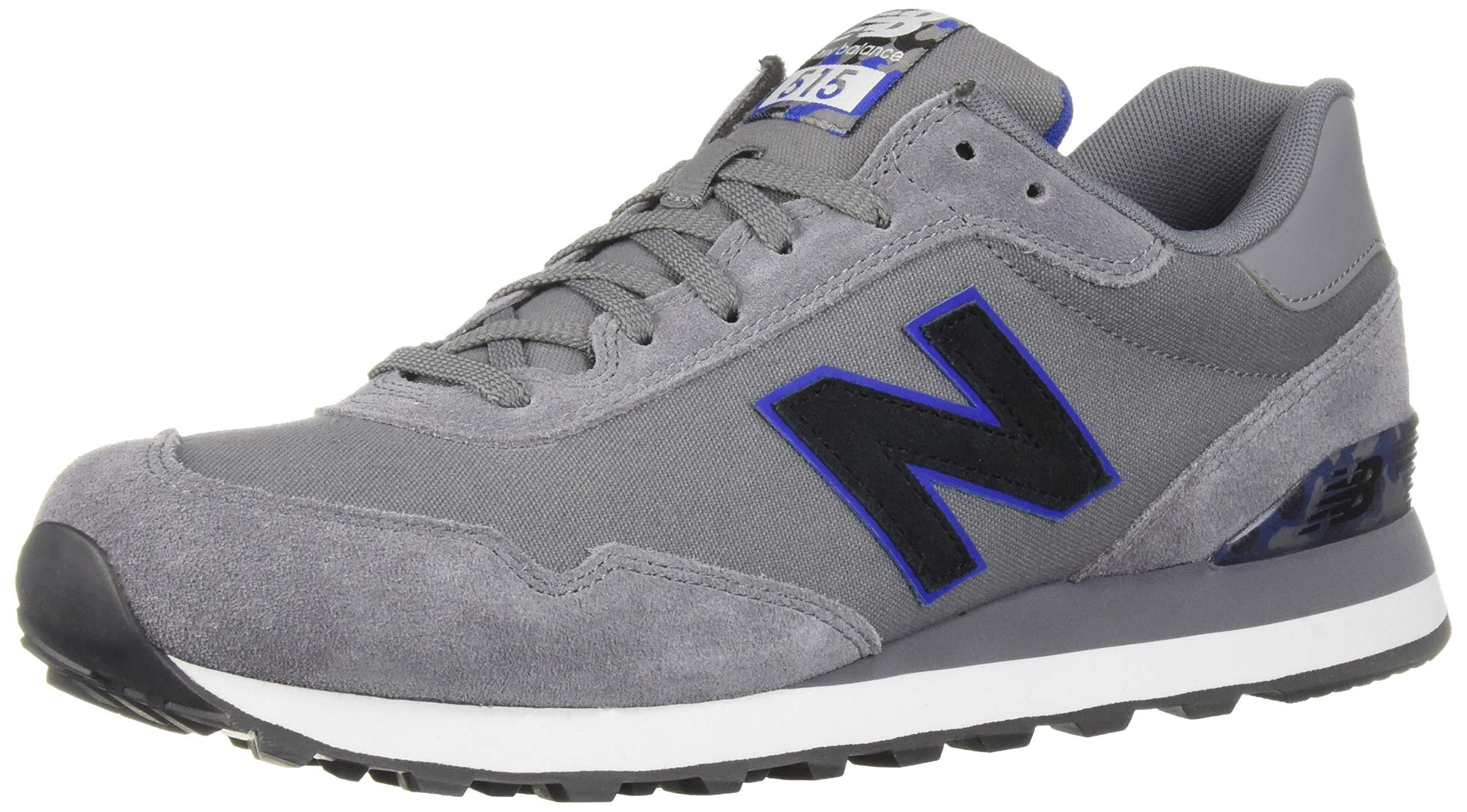 New Balance Men's 515 V1 Sneaker, Gunmetal/Team Royal, 18 D US