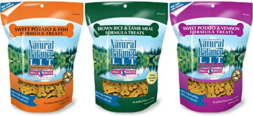 Natural Balance , Dick Van Patten s L.I.T. Small Breed Treats For Dogs 3 Flavor Variety Bundle- 8 oz Each