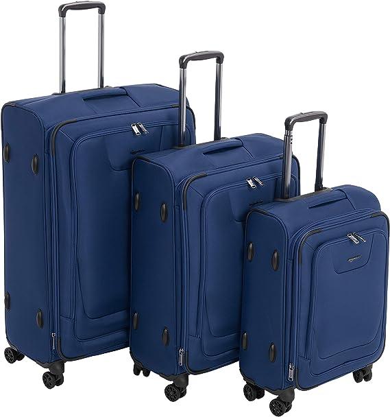 AmazonBasics - Set de dos maletas con ruedas, de calidad superior ...