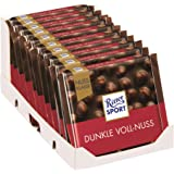 Ritter Sport nut Class Dark Whole Hazelnuts chocolate (10 x 100g)