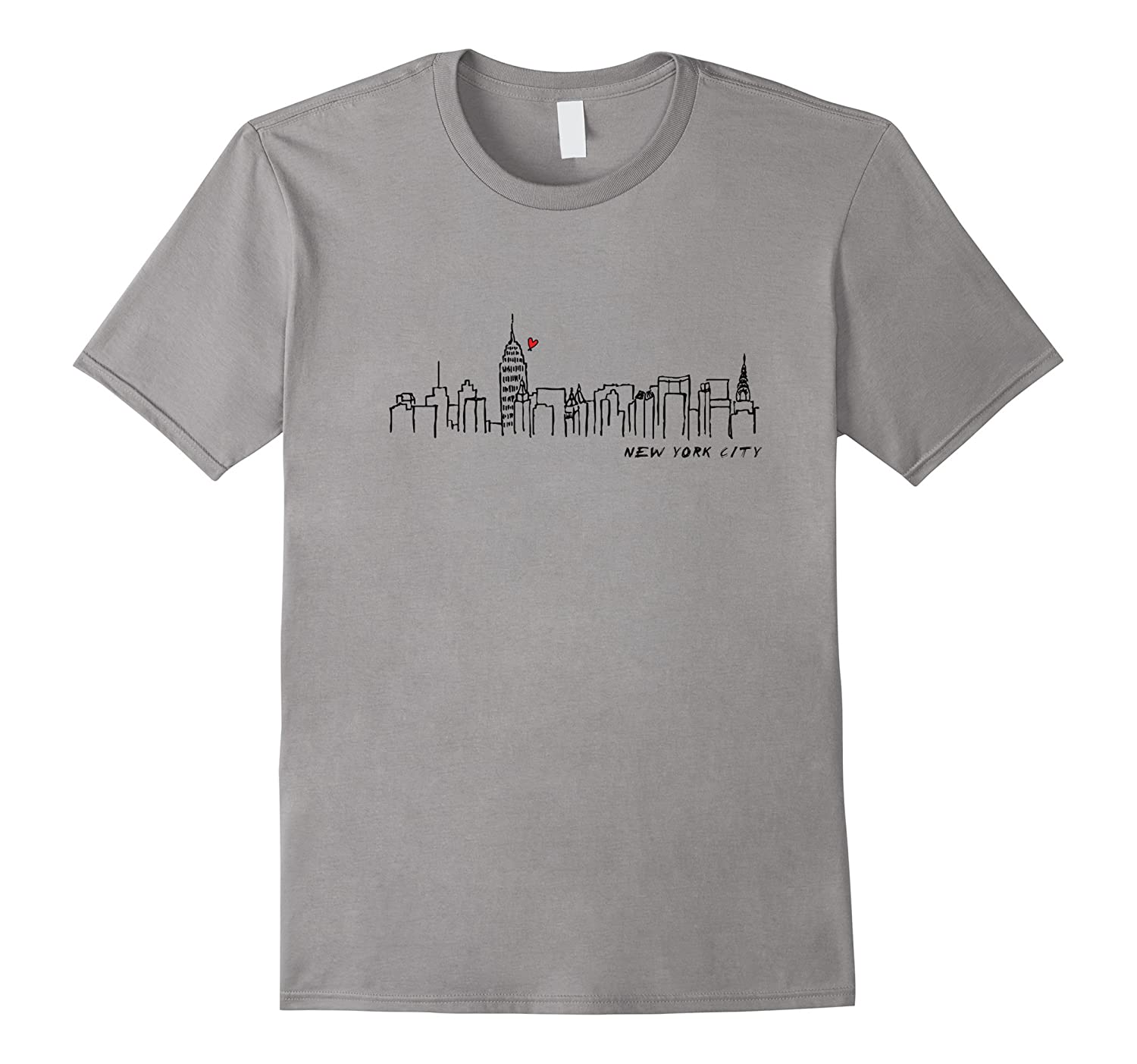 NYC SHIRTS NEW YORK CITY T-SHIRTS Manhattan Skyline Tee-RT