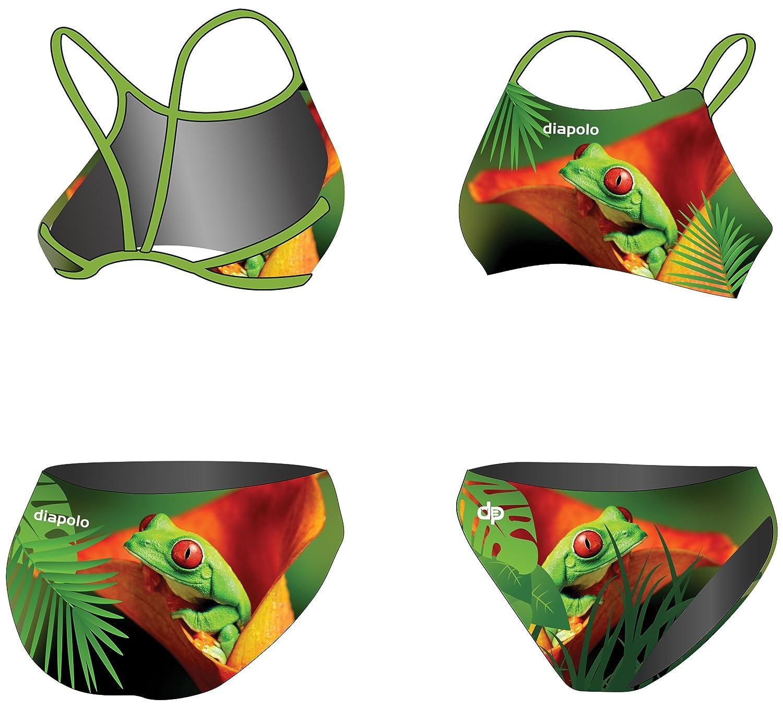Diapolo Frog 2 Sport-Bikini Zweiteiler aus der Wild Animals Kollektion für Schwimmen Synchronschwimmen Wasserball Thriathlon