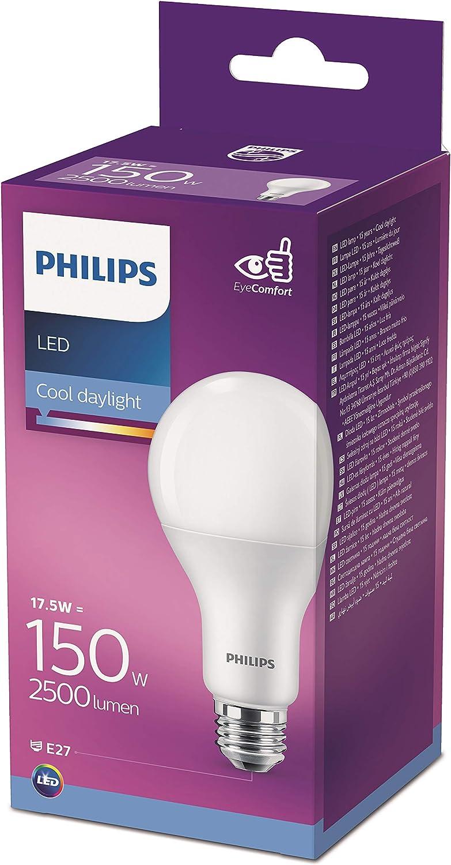 Philips Lighting Bombilla LED gota 150 W casquillo E27, 6500 K, luz fría, no regulable 17,5 W