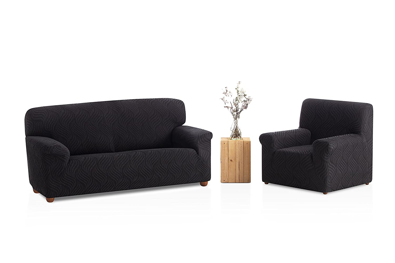 Bartali Funda de sillón elástica Aitana - Color Negro - Tamaño 1 Plaza (de 50 a 90 cm)