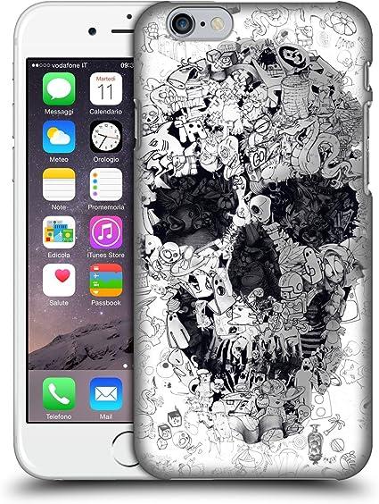 Head Case Designs Licenza Ufficiale Ali Gulec Doodle Teschio Il Messaggio Cover Dura per Parte Posteriore Compatibile con Apple iPhone 6 / iPhone 6s