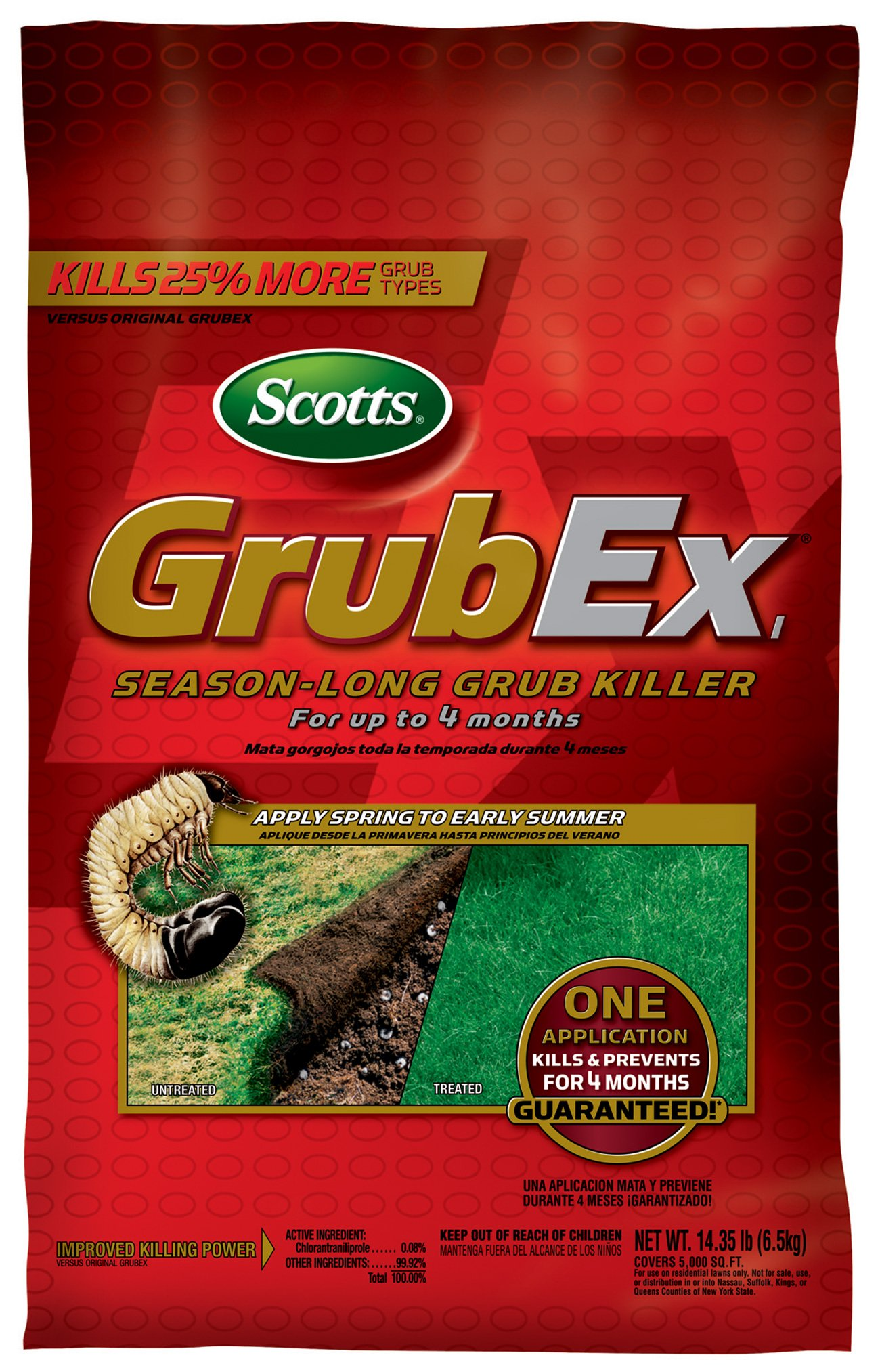 Scotts GrubEx, 5,000-sq ft (Grub Killer & Preventer) Net Wt. 14.35lb (Not Sold in HI, NY)