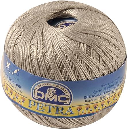DMC Petra - hilo 100% Algodón, tamaño 3, color gris, paquete de 4 unidades: Amazon.es: Hogar