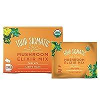 Four Sigmatic Lion's Mane Mushroom Elixir, Organic Lion's Mane Mushroom Powder with...