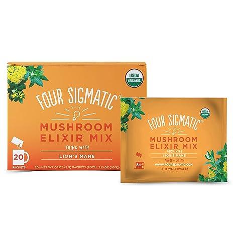 La melena del león, súper Mushroom Drink Mix, 20 Paquetes - Cuatro ...