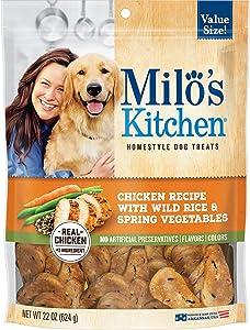 Milo's Kitchen Chicken Recipe with Wild Rice & Spring Vegetables Dog Treats, 22 oz.