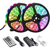 LED Strip Lights, Attuosun 32.8feet/10M Waterproof IP65 RGB Light Strips, SMD5050 300Leds Color Changing Flexible Rope…