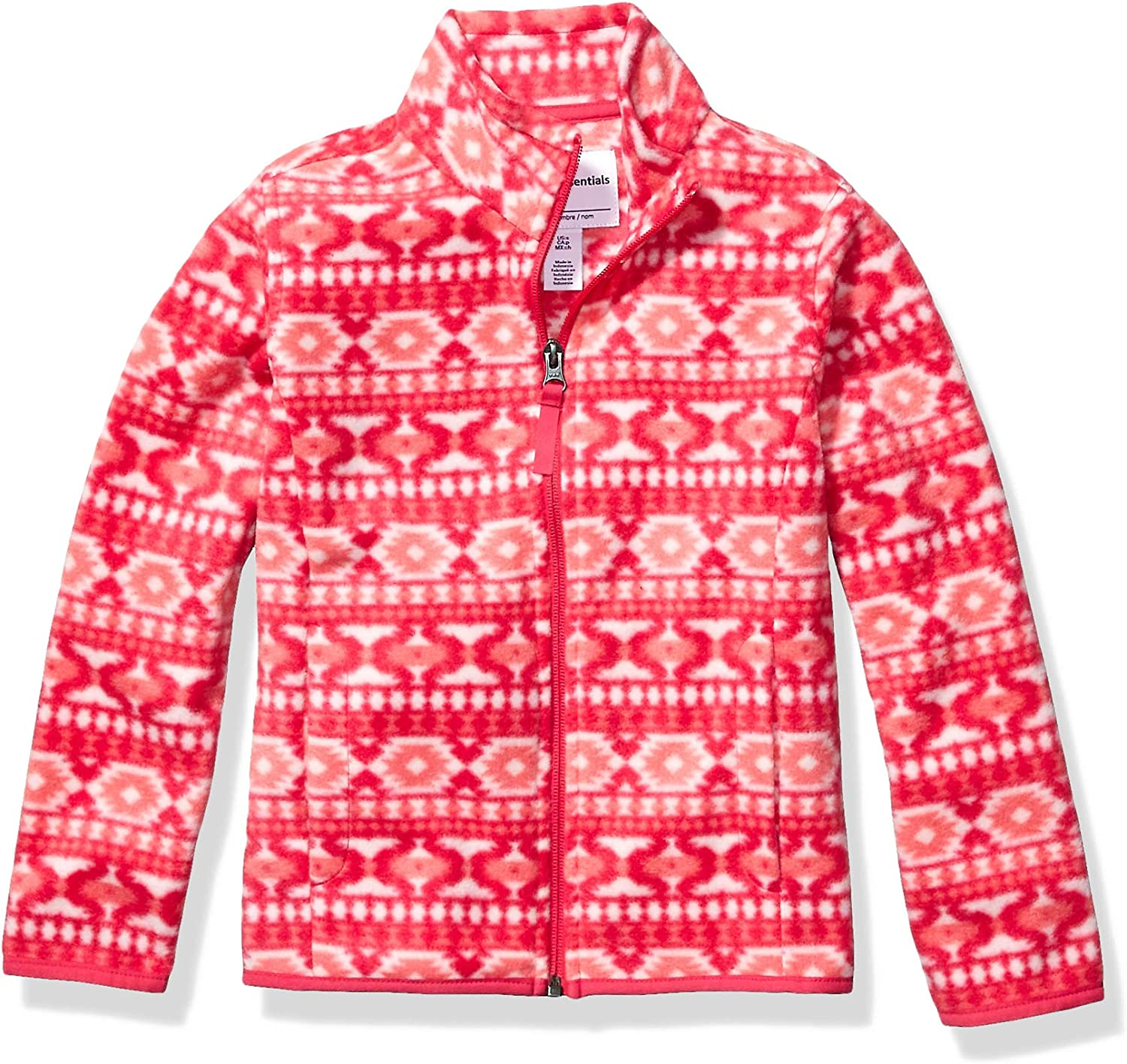 Essentials Girls Full-Zip Polar Fleece Jacket