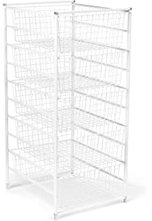 Beau ClosetMaid 6202 5 Drawer Basket Kit, White