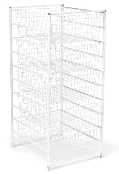 ClosetMaid 6202 5 Drawer Basket Kit, White