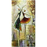 Metuu Modern Canvas Paintings, Ballet Dancer Girl Paintings Modern Home Decor Wall Art Painting Wood Inside Framed Hanging Wall Decoration Abstract Painting Ready to hang 24x48inch