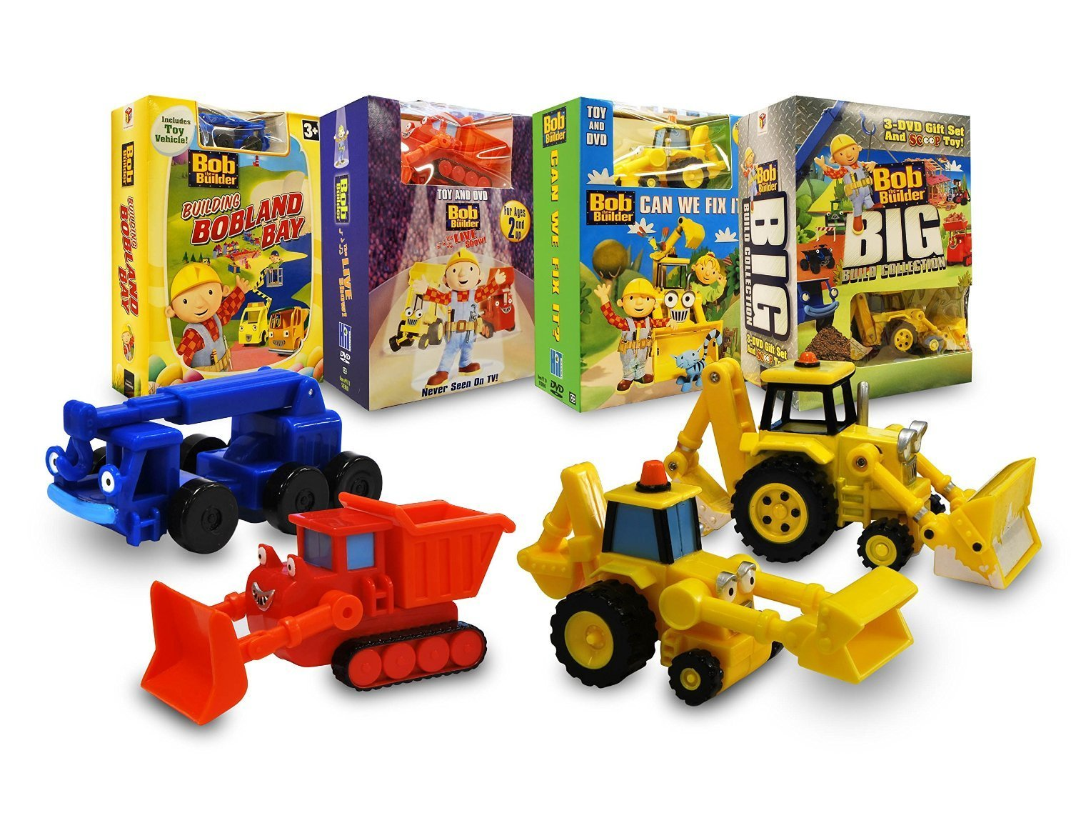 Bob the builder live online dvd rental - Amazon Com Bob The Builder Construction Set With Toy Building Bobland Bay The Live Show Can We Fix It Big Build Collection Rob Rackstraw
