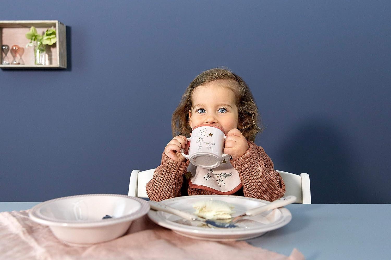 L/ÄSSIG Kinderbesteck-Set Edelstahl Kunststoffgriff L/öffel und Gabel//Cutlery More Magic Seal blau