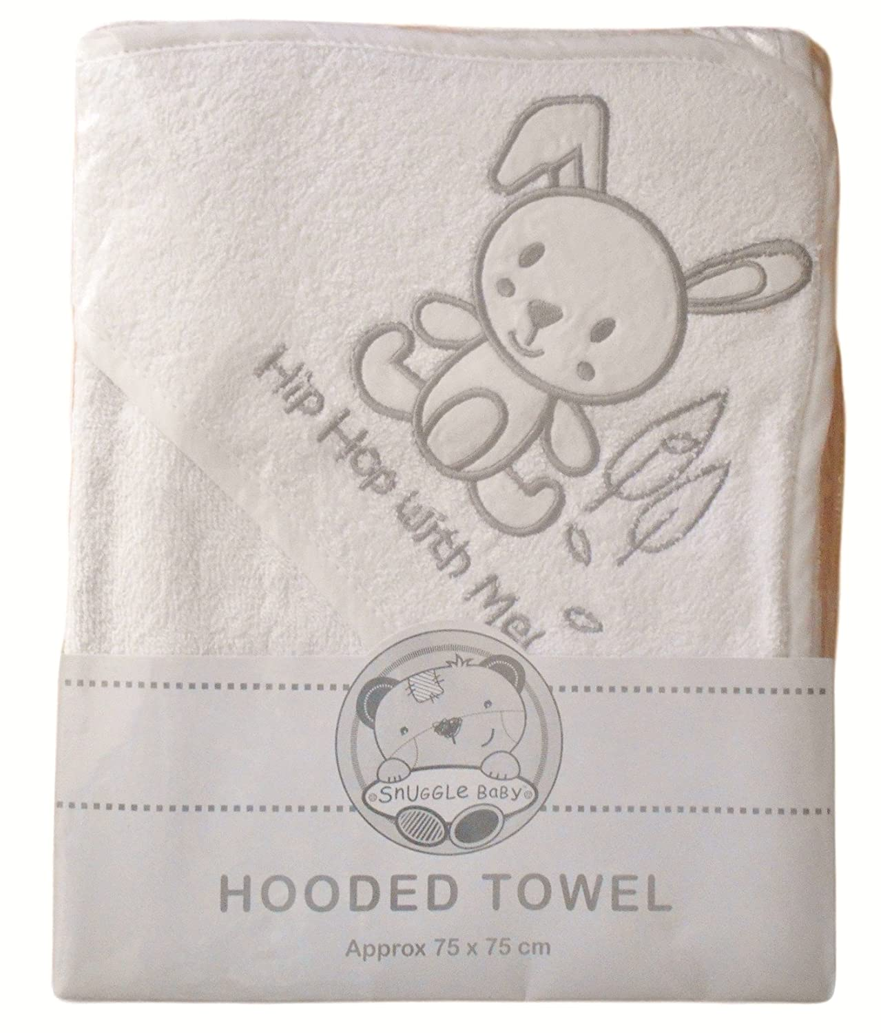 gift Elli /& Raff Personalised Embroidered Baby Hooded Bath Towel any text