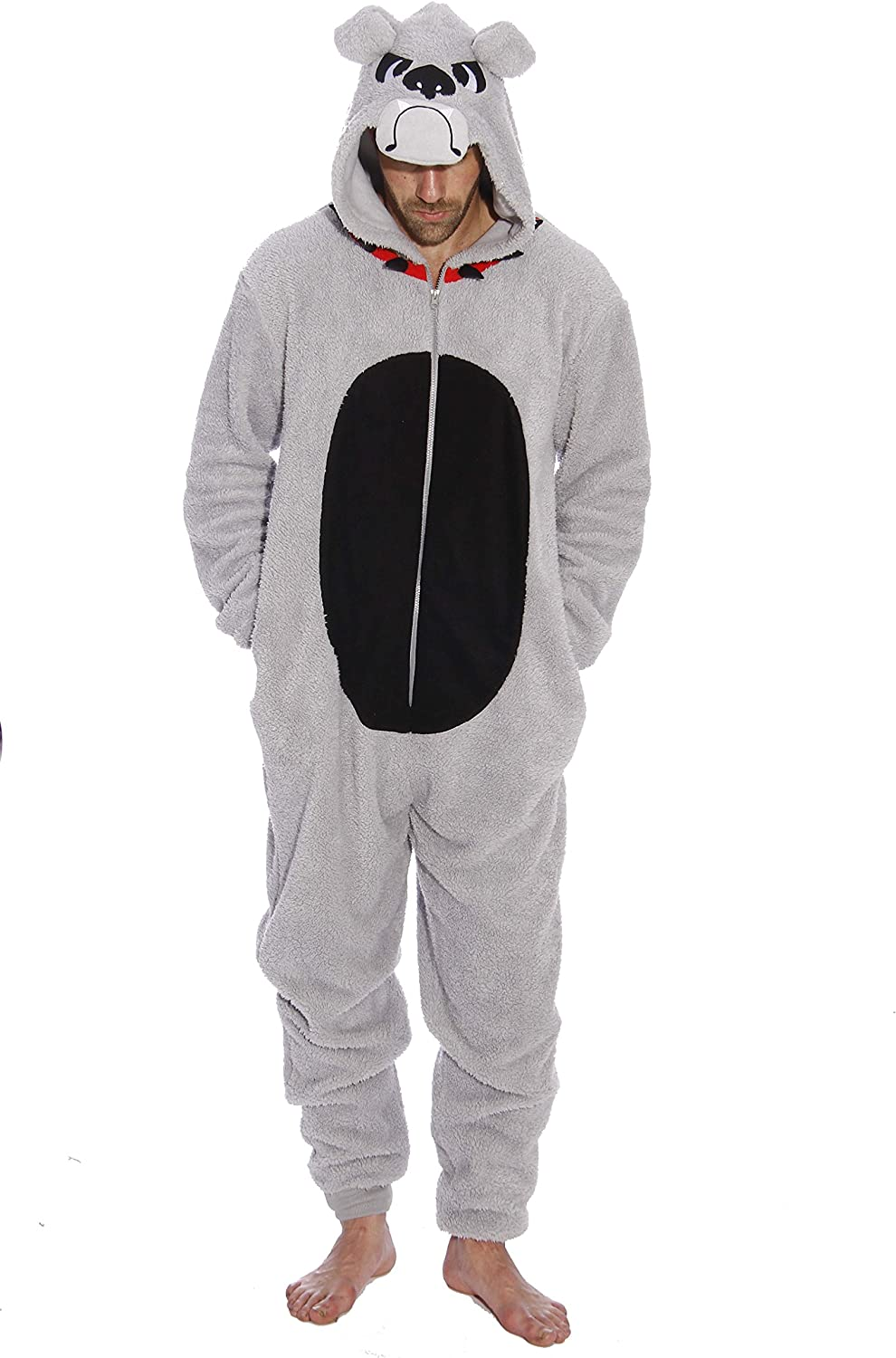 #followme Bulldog Adult Onesie Pajamas