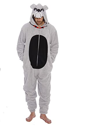 6427-M-BullDog #FollowMe Adult Onesie / Men's Pajamas