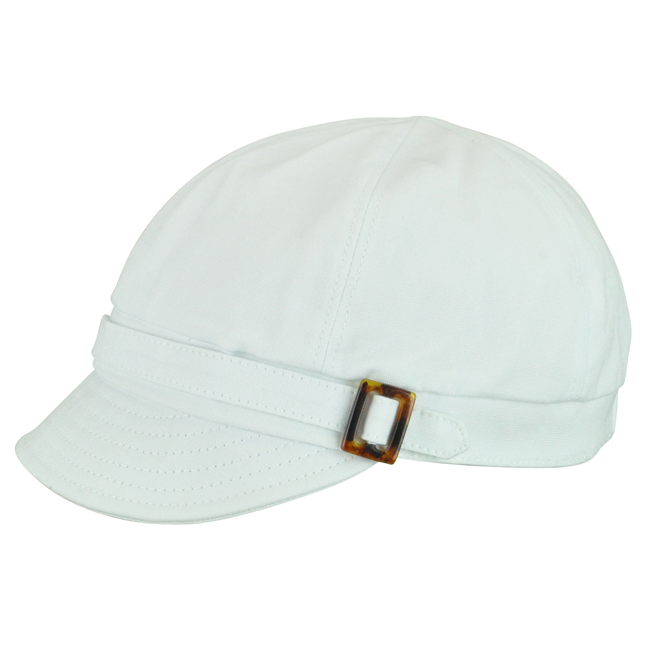 Betmar Women's Aimee Newsboy Cap, White, One Size