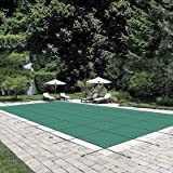 Happybuy Pool Safety Cover Fits 20x40ft Rectangle Inground Safety Pool Cover Green Mesh Solid Pool Safety Cover for Swimming