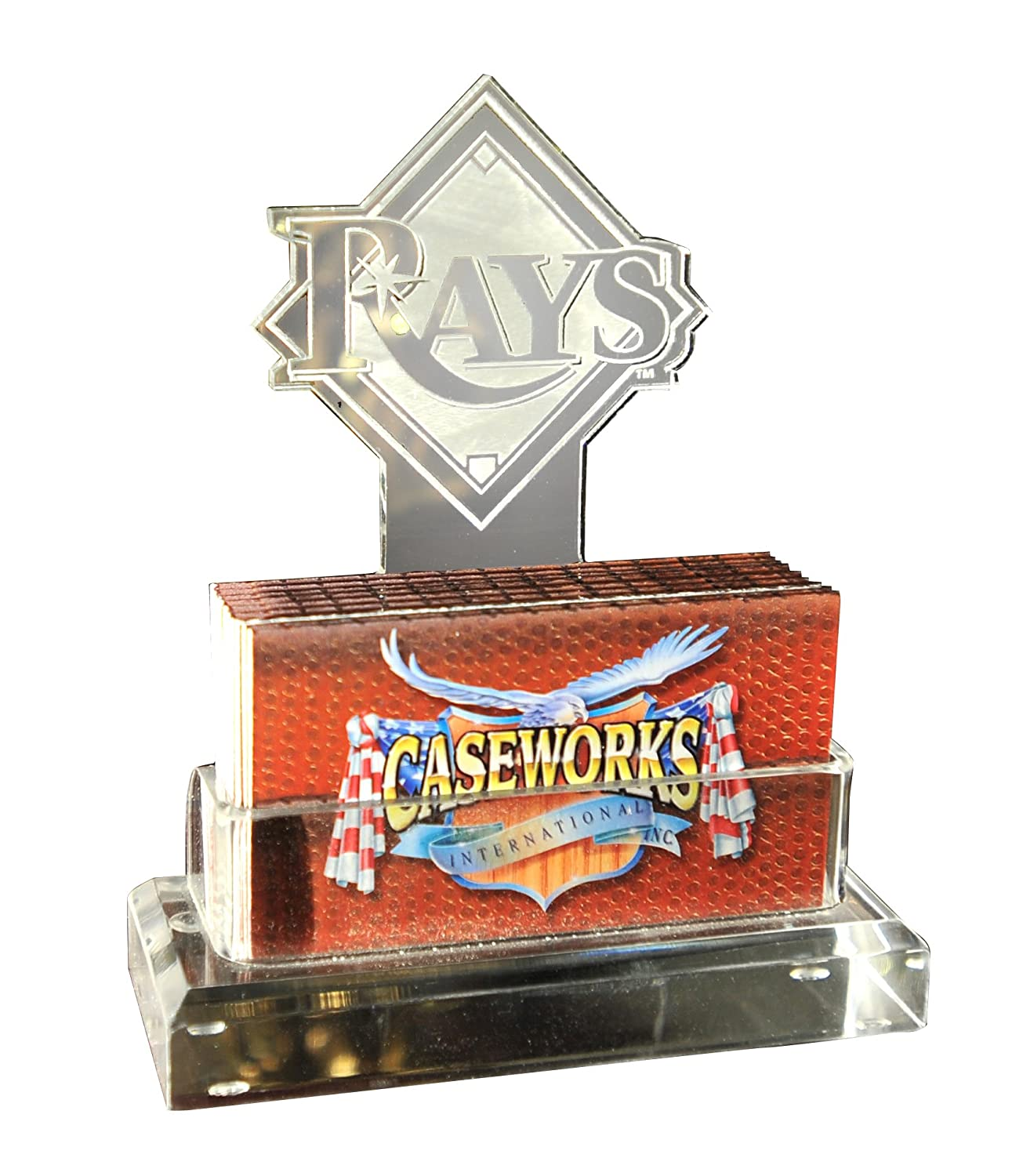 Amazon mlb tampa bay rays business card holder in gift box amazon mlb tampa bay rays business card holder in gift box sports related fan shop sports outdoors reheart Images