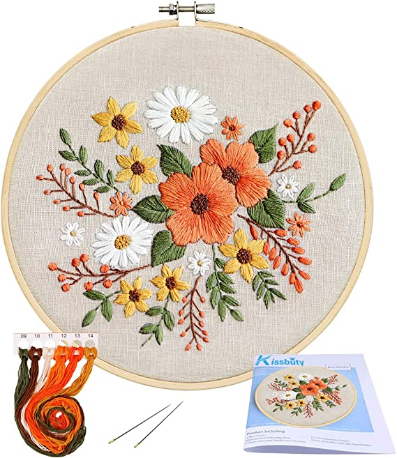 Counted /& Stamped Cross Stitch kit Embroidery Kits with Pattern Colour Chart