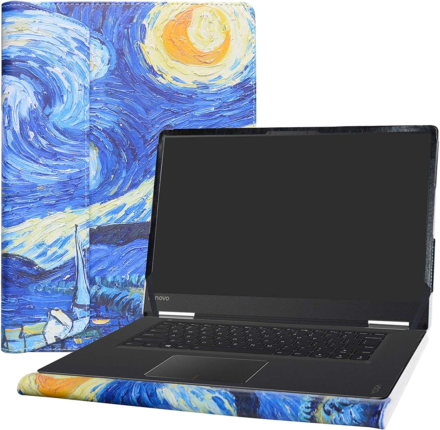 "Alapmk Protective Case Cover for 15.6"" Lenovo Yoga 710 15 710-15IKB/IdeaPad 720S 15 720S-15IKB & ACER Swift 3 15 SF315-52 Laptop(Note:Not fit Yoga 730 720/IdeaPad 710s/SWIFT 3 SF315-51),Starry Night"