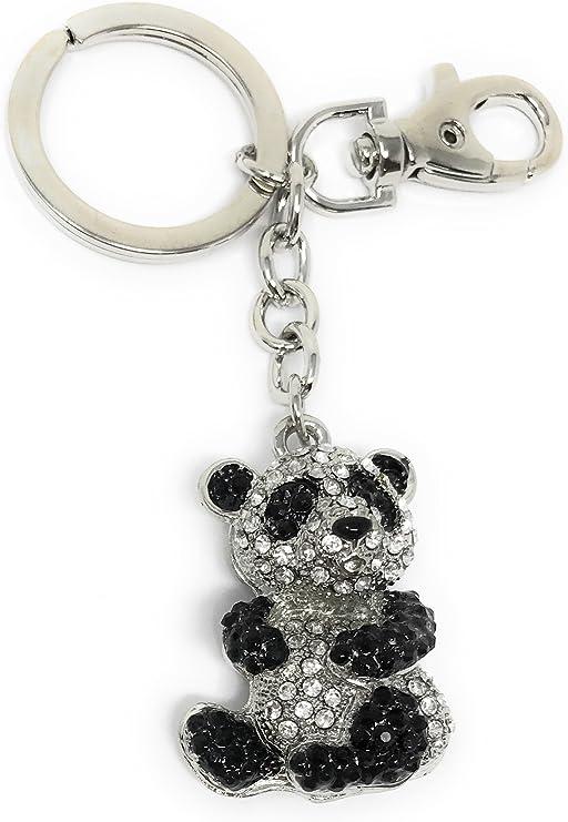 Amazon.com: Value Arts Bejeweled - Llavero de oso panda, 4.5 ...