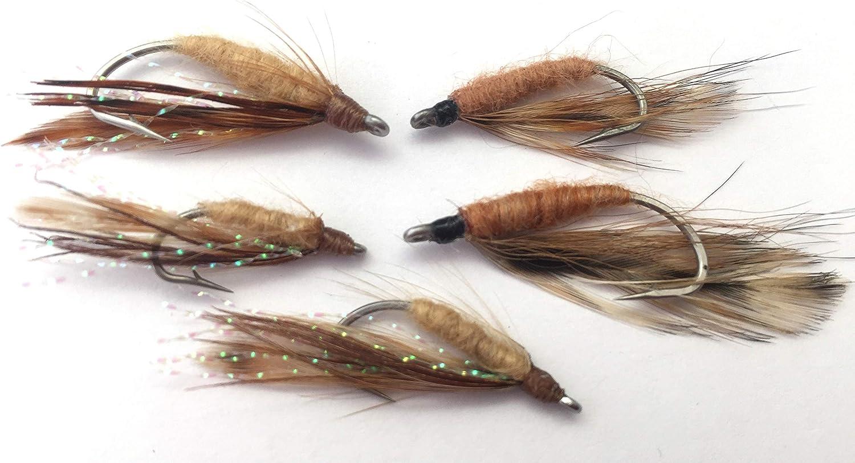BestCity Fliegenfischen Salzwasser Crazy Charlie Red Flies Gr/ö/ße 4-8 Pack 6#121D