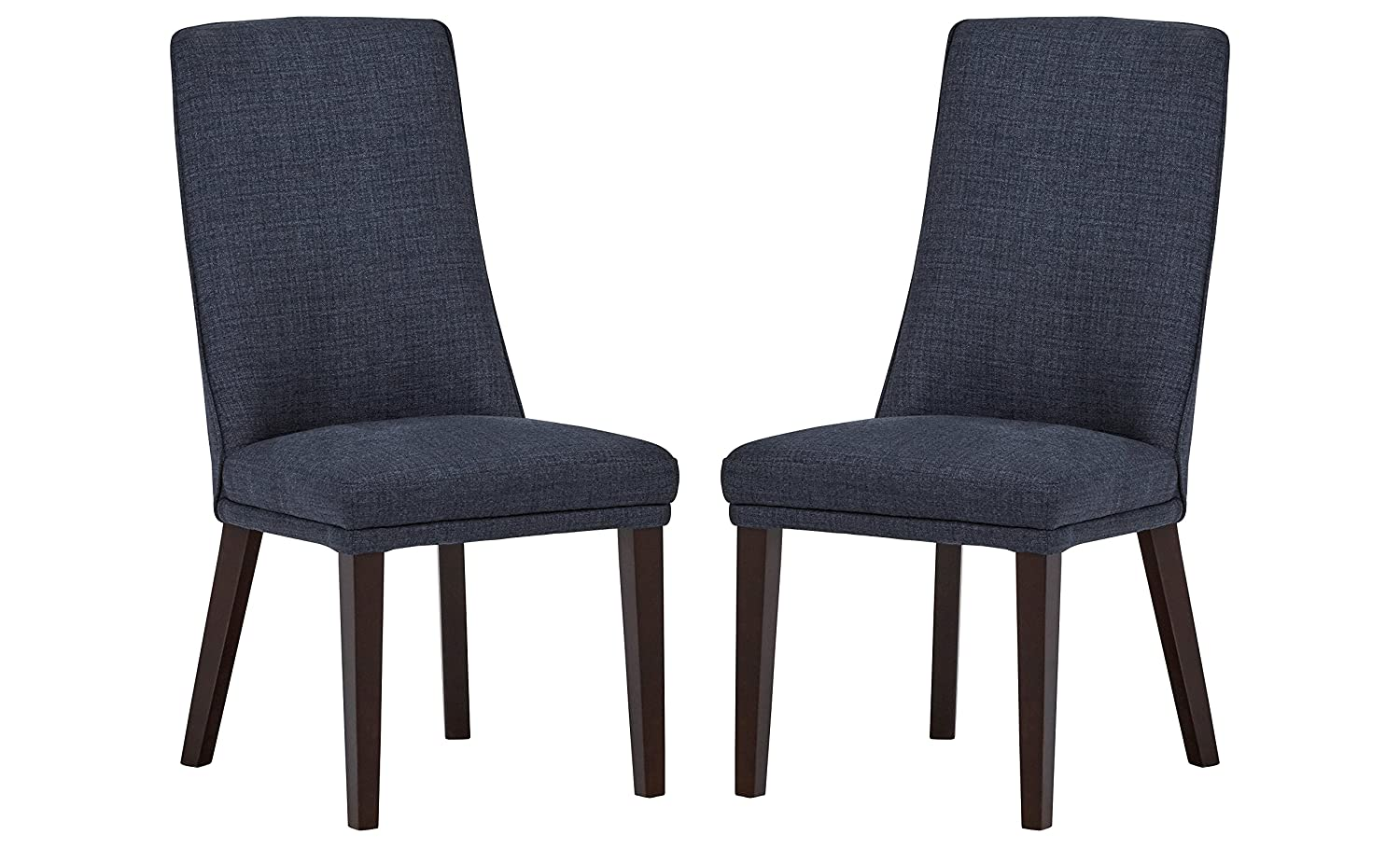 Stone & Beam High-Back Dining Chairs, 38'H, Set of 2, Navy 38H Kuka Y1306#-2pc-N