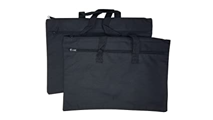 eaaa87830a45 ImpecGear Document Bags Legal Size Conference Bag, Safe Accessories Bag,  Poly Cloth Value Pack of 2 (Black, 16